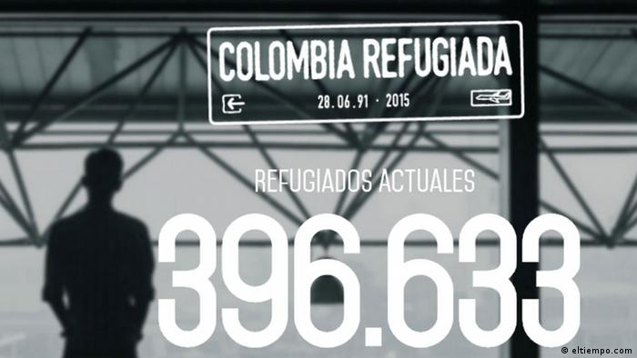 Screenshot Colombia Refugiada