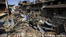 Nepal Rettungsaktion nach Erdbeben in Bhaktapur