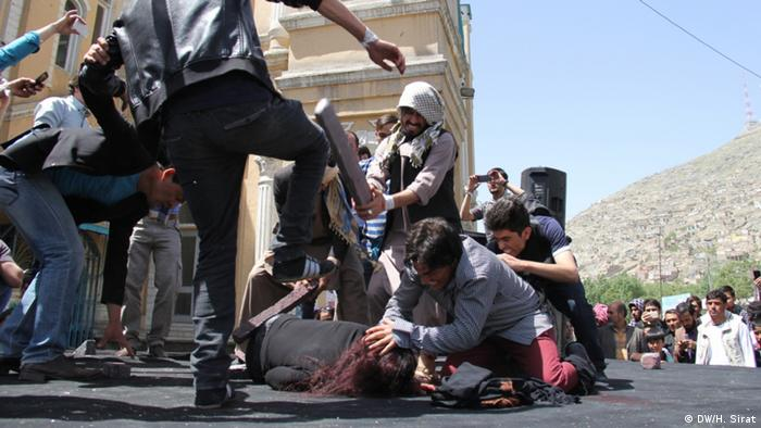 Afghanistan Protest und Demonstration Gedenken an Farkhunda