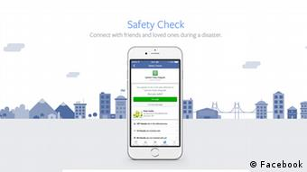 Screenshot Facebook safety check (Facebook)