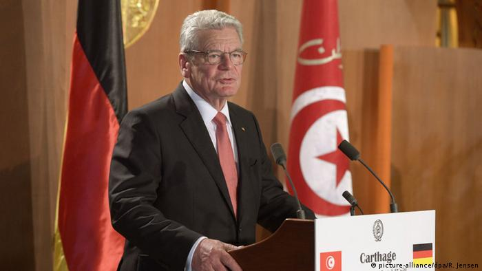 Gauck in Tunis (Foto: dpa)
