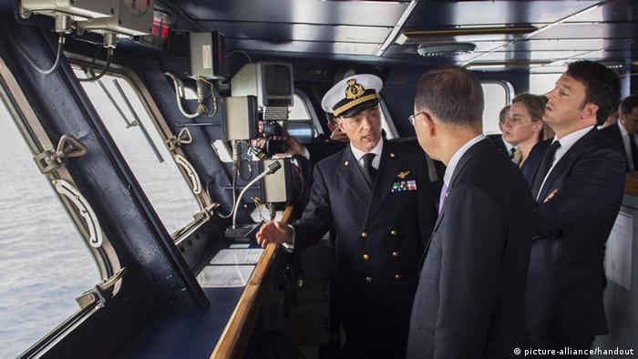 Italien Marine Besuch Mogherini Ban Ki-moon Renzi