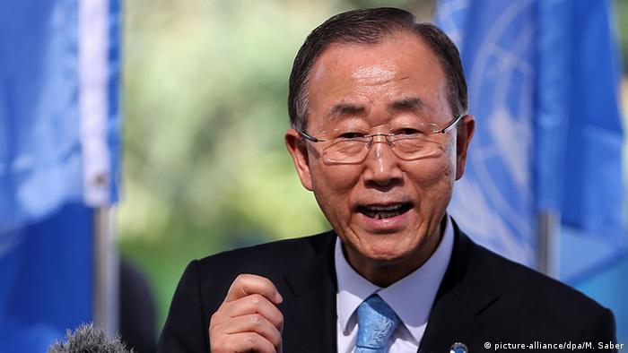 Palästina Ban Ki-moon in Gaza