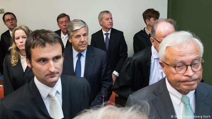 München Deutsche Bank Prozess Fitschen Breuer Ackermann (Getty Images/Joerg Koch)
