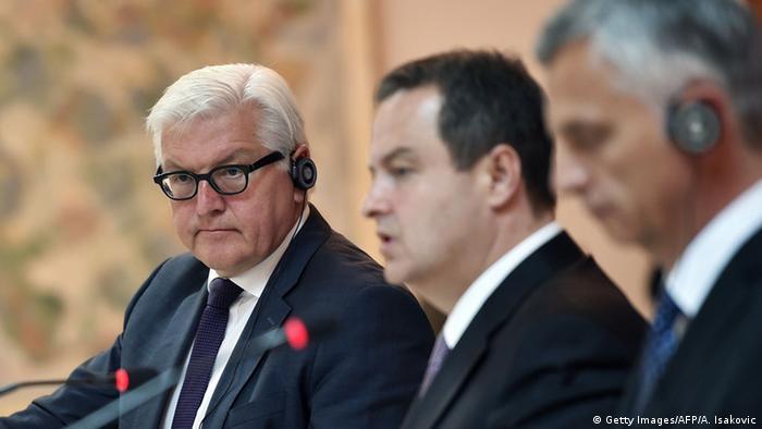 Франк-Вальтер Штайнмаєр, Івіца Дачич та Дідьє Буркгальтер
