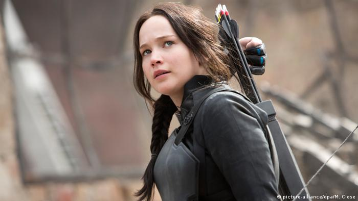 Jennifer Lawrence als Katniss in Tribute von Panem