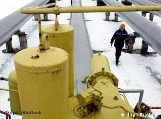 Участок газпопровода на российско-украинской границе