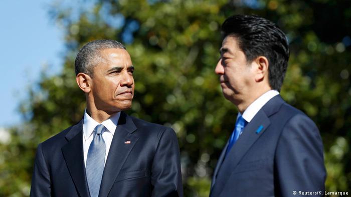 USA Treffen japanischer Premierminister Shinzo Abe mit Obama