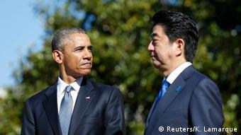Shinzo Abe mit Barak Obama