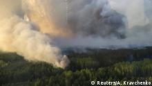 Ukraine Waldbrand nahe Tschernobyl