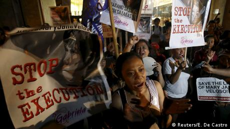 Philippinen Proteste Indonesien Todesstrafe Drogenschmuggeler
