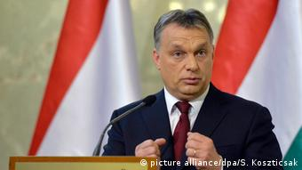 Hungarian Prime Minister and Chairman of the Fidesz party Viktor Orban.