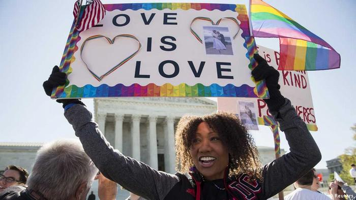 USA / Befürworterin / Homo-Ehe / Supreme Court Washington