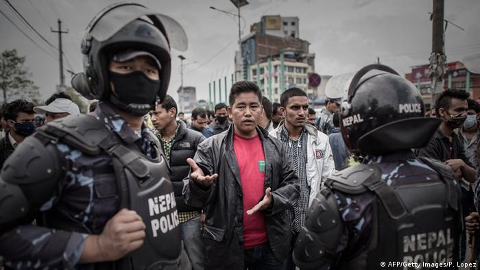 Nepal Erdbeben Kathmandu Proteste Polizei