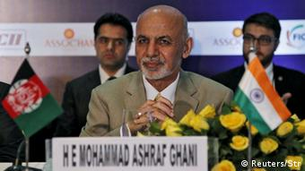 Afghanistan's President Ashraf Ghani attends a business meeting in New Delhi, India, April 29, 2015 (Photo: REUTERS/Stringer)