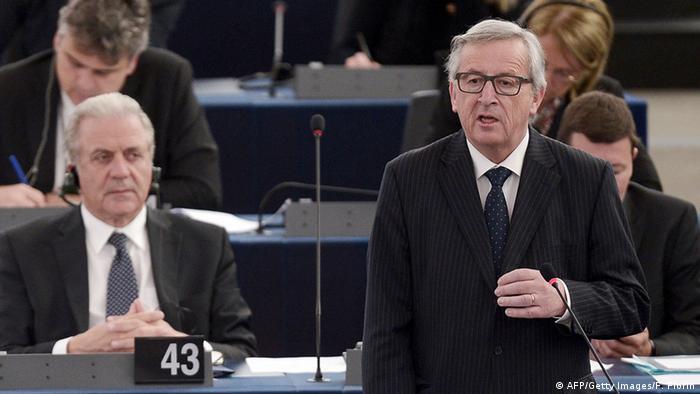 Frankreich EU Parlament Jean-Claude Juncker