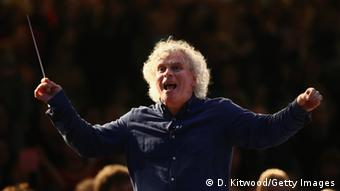Berlin Philharmonic conductor Simon Rattle. Copyright: Dan Kitwood/Getty Images