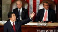 USA Japan Premierminister Shinzo Abe vor dem US-Kongress