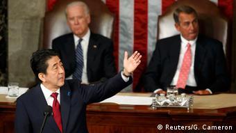 USA Japan Premierminister Shinzo Abe vor dem US-Kongress