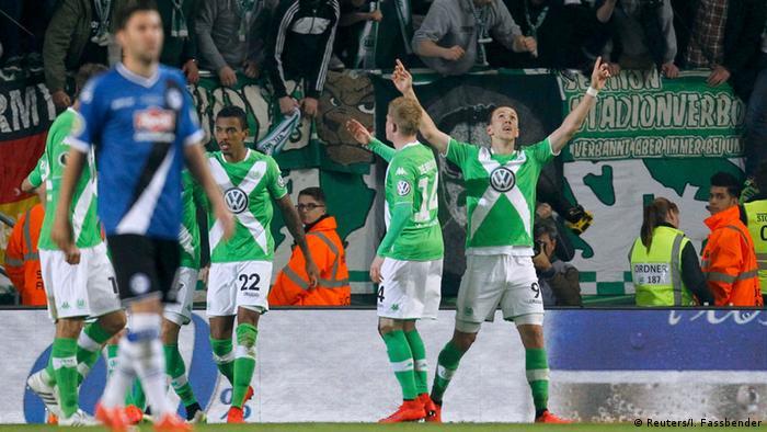 DFB-Pokal Wolfsburg vs Bielefeld Gustavo Jubel