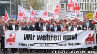 Berlin Demonstration - VerDi und IGBCE unions against climate levy