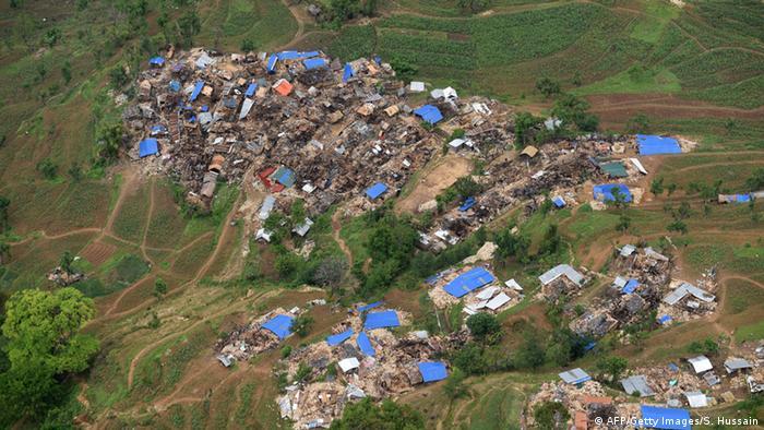 Bildergalerie Nepal Erdbeben Zerstörung Dorf in Gorkha