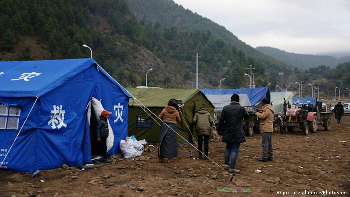 Bildergalerie Nepal Erdbeben Zeltlager in Tibet