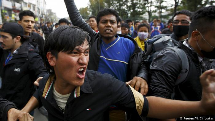 Bildergalerie Nepal Erdbeben Protest in Kathmandu