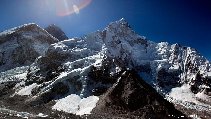 The peak of Mt Everest