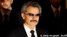 AUSCHNITT LONDON, ENGLAND - NOVEMBER 02: The part owner of The Savoy HRH Prince Alwaleed Bin Talal Bin Abdulaziz Alsaud and his wife, Princess Amira, arrive to greet the Prince of Wales as he officially reopens The Savoy following an extensive refit on November 2, 2010 in London, England. The Savoy hotel, which originally opened in 1889, closed for refurbishment and restoration of the entire building by over 1000 craftsmen in December 2007 and began receiving guests again on October 10, 2010. (Photo by Oli Scarff/Getty Images)