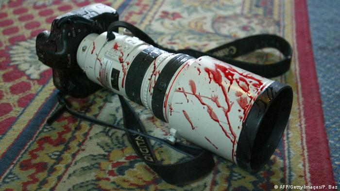 Blood on a photo camera