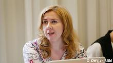 Oksana Romaniuk ist Vertreterin von Reporter ohne Grenzen in der Ukraine und leitet das Kiewer Institut für Massenmedien, eine Nichtregierungsorganisation. Bild: Jan Röhl