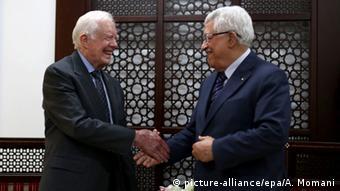 Palästina Westjordanland Treffen Jimmy Carter Mahmud Abbas