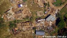 Nepal Zerstörte Häuser im Distrikt Sindhupalchok