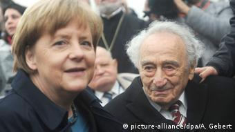 Mannheimer and German Chancellor Angela Merkel