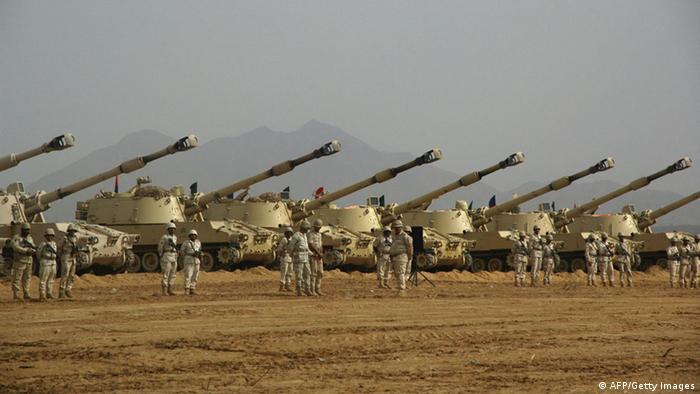 Jemen Saudi Arabien Grenze Panzer Archiv