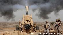 Saudi Arabien Grenze Jemen Saudische Armee Bodentruppen Soldat