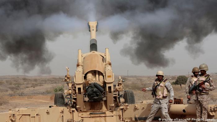 جنود سعوديون في جازان على الحدود مع اليمن