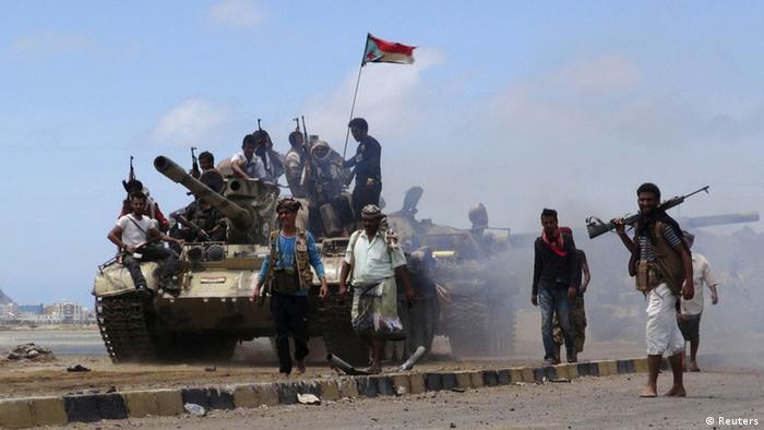 Jemen Aden Southern Popular Resistance Anti Huthi Kämpfer
