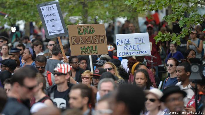 USA Baltimore Demonstration gegen Rassismus und Polizeigewalt