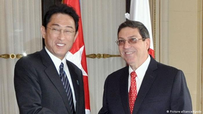 Foreign ministers of Cuba and Japan