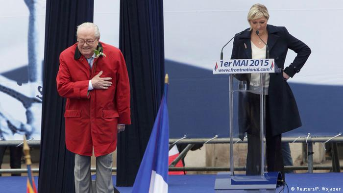 Paris Kundgebung Front National Jean-Marie Le Pen