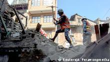 Nepal Erdbeben Zerstörung in Bhaktapur