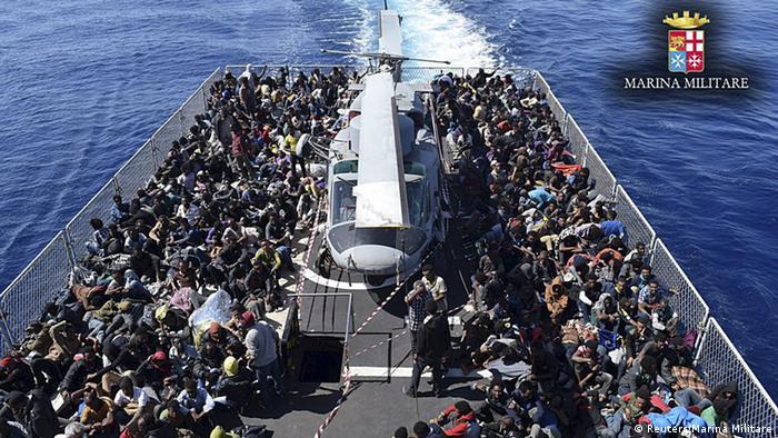 Flüchtlinge Mittelmeer Bootsflüchtlinge