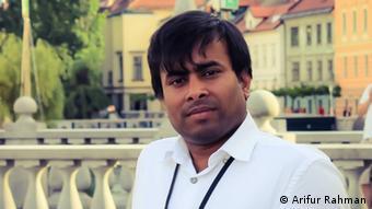 Bangladesch Cartoonist Arifur Rahman in Slowenien