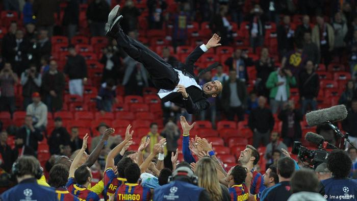 Champions League Barcelona Sieger 2011 Jubel Guardiola