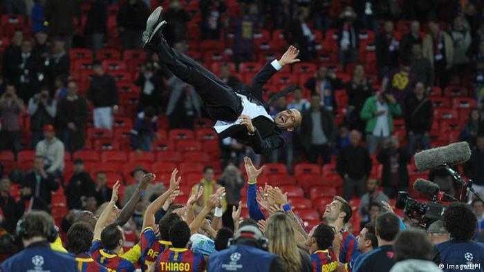 Champions League Barcelona Sieger 2011 Jubel Guardiola