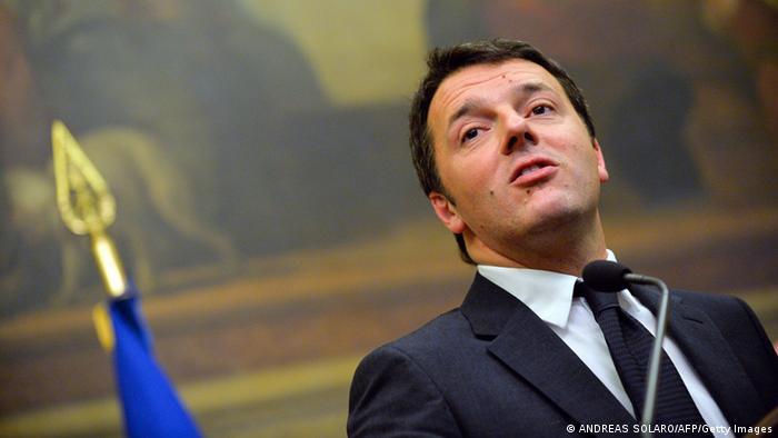 Italien - Symbolbild Premieminister Matteo Renzi