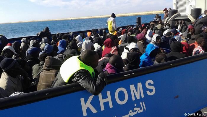 Migrants in Lybia