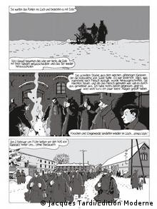 Excerpt from Ich, René Tardi, Kriegsgefangener im Stalag IIB, Copyright: Jacques Tardi/Edition Moderne